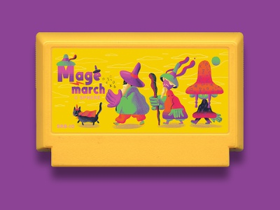Mage March - Famicase Art Show game videogames nintendo nes famicom famicase art show fun exhibition character design retro art direction colour color illustration