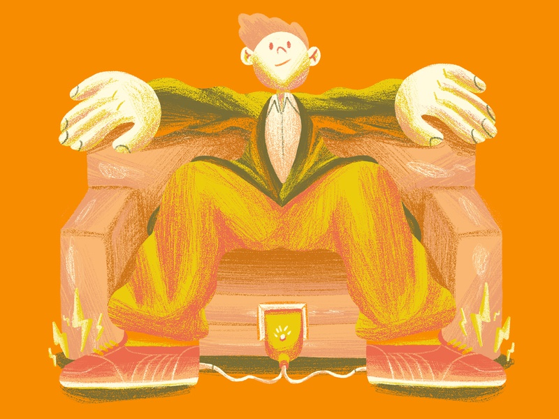 mixmag clubbing club recharge couch sit records trance dance rave dj music magazine editorial illustration editorial character design art direction colour color graphic illustration