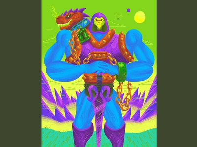 Dragon Blaster Skeletor - MATTEL Art Show