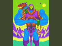 Dragon Blaster Skeletor - MATTEL Art Show