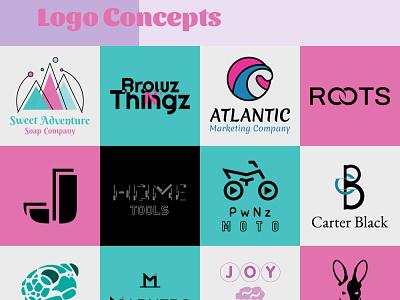Logos vol 1 flat minimal design branding vector typography logo mark logotype logodesign logos