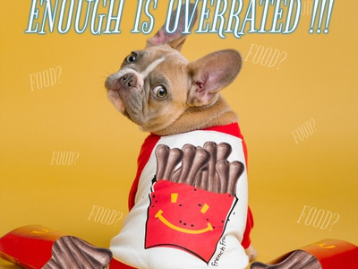 Enough is overrated! - Social Media Visual dog food bones colorful visual dog visual pet shop visual funny pet funny visual social media visual pet food pet shop