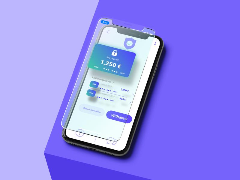 Depos'it ux ui app design