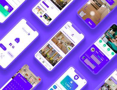 Depos'it workflow ux ui design app