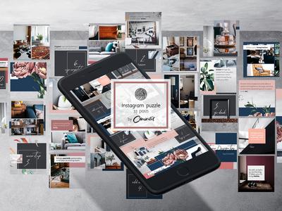 Instagram Puzzle, 33 posts