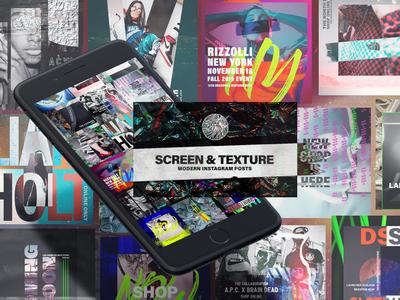 Screen&Texture Instagram posts