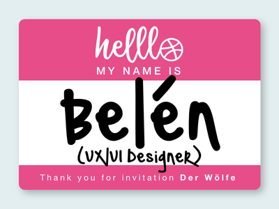 Helllo Dribbble! thank you hello debut player invite shot first dribbbler