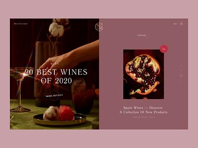 Insignis Wine winery websites shop drink wine ui creative design website consept web