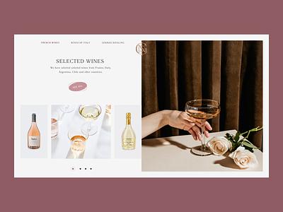 Insignis Wine shop investment wine website creative consept design web
