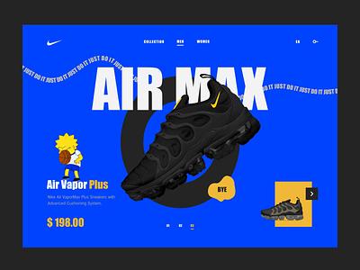 Nike consept web design affter effects sketch simpson design air max nike air max nike