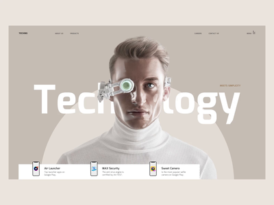 Technology ux webdesig ui consept website affter effects web design