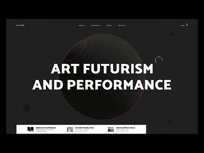 Art Futurism art futurism ui creative design website webdesig affter effects web consept