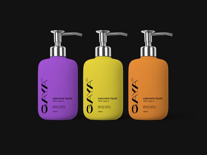 GAYA minimalist branding brand logo logotype poster cool modern mockup packaging pack soapbox soapbar soap