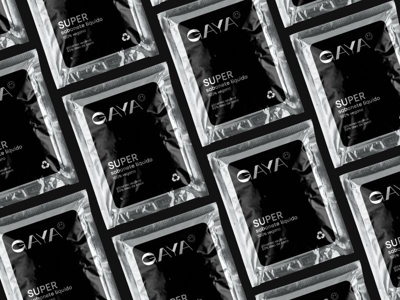 GAYA logotype art direction pack abstract packaging design minimalist branding branding design soap bar soapbox soap