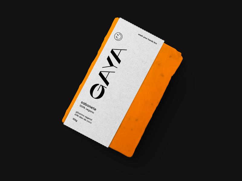 GAYA drink illustration design art direction pack branding design abstract packaging modern minimalist