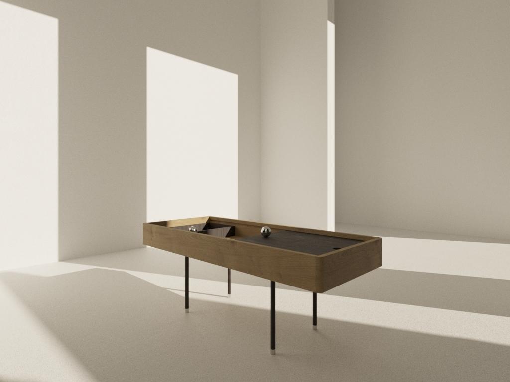 Designer table visualization product design set design wallpaper visualization setdesign render objects minimalism interior design furniture design design corona architecture design architecture 3dmax