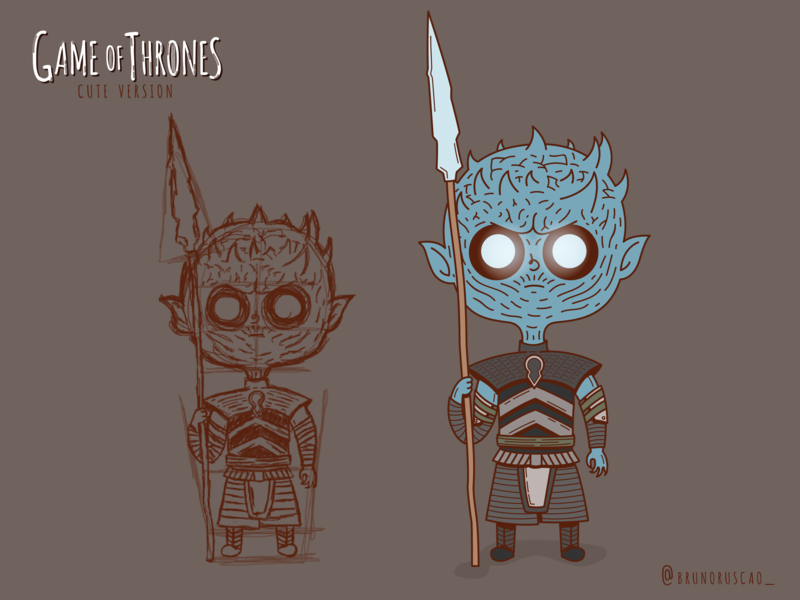 eff02d8151ae Game of Thrones Cute Version | Night King hbo winter winter is here  character design night