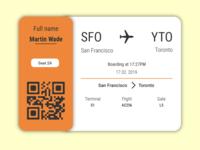 Boarding Pass Ui #024