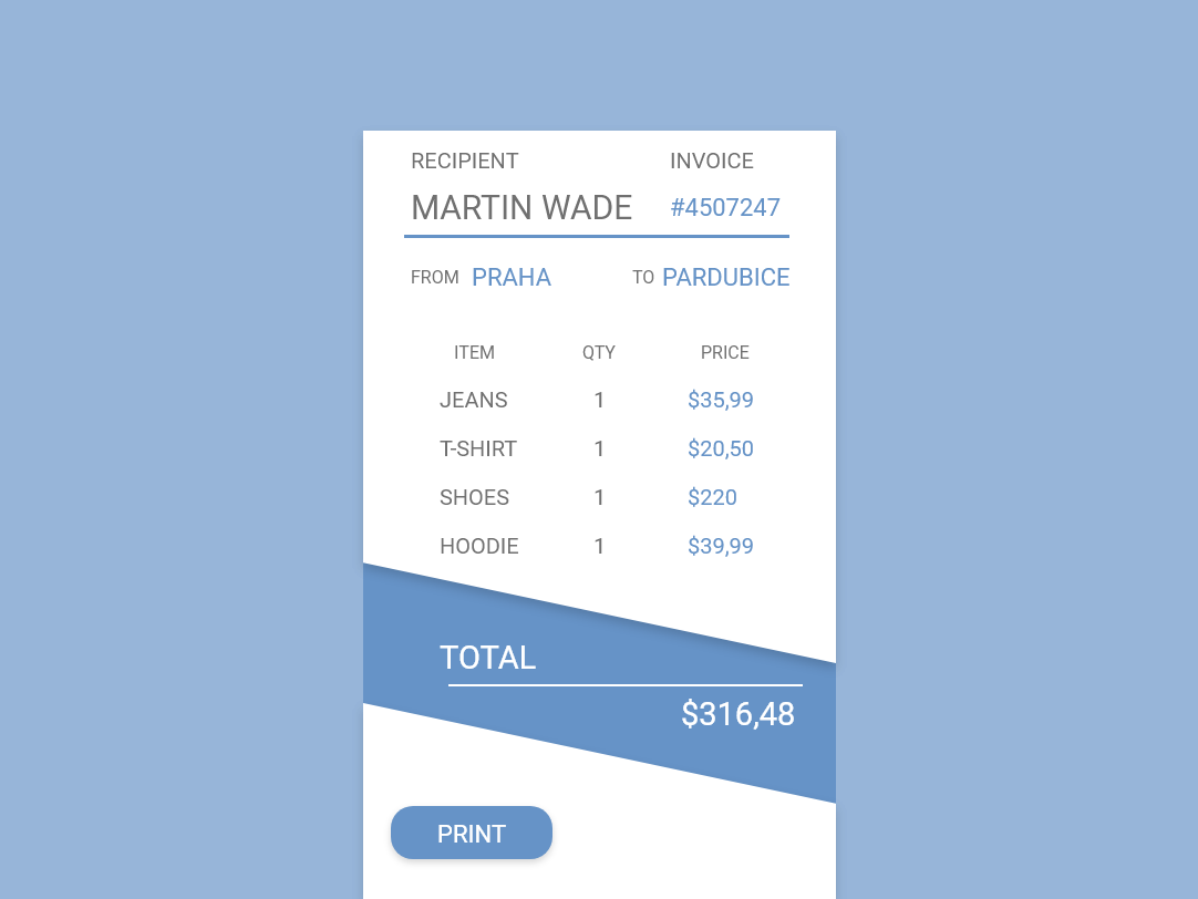 Invoice Ui 046 By Martin Pavliš On Dribbble