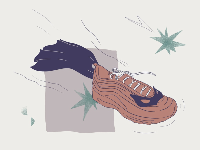Superhero resale editorial illustration sneaker illustration sneakers superhero nike air max 97 wacom intuos illustration digital drawing design