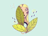Leafy portrait