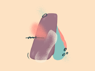 Letter A 36dayoftype letter a typograpgy letters 36 days of type texture wacom intuos illustration digital drawing design