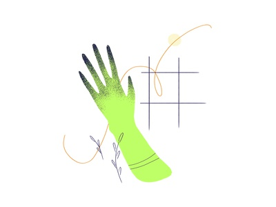 Witchy Hand witch green minimalistic hand texture wacom intuos illustration digital drawing design