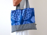 Geometric fabric and tote bag design