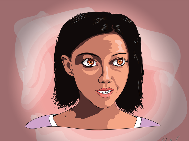Alita Battle Angel angel battle alita vector illustration vector art portrait art pop-art