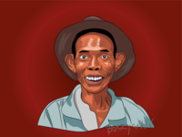 Portrait pop-art