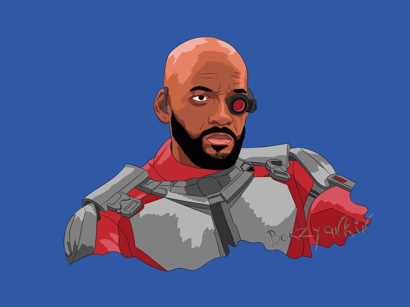 Deadshot vector portrait art illustration vector art pop-art