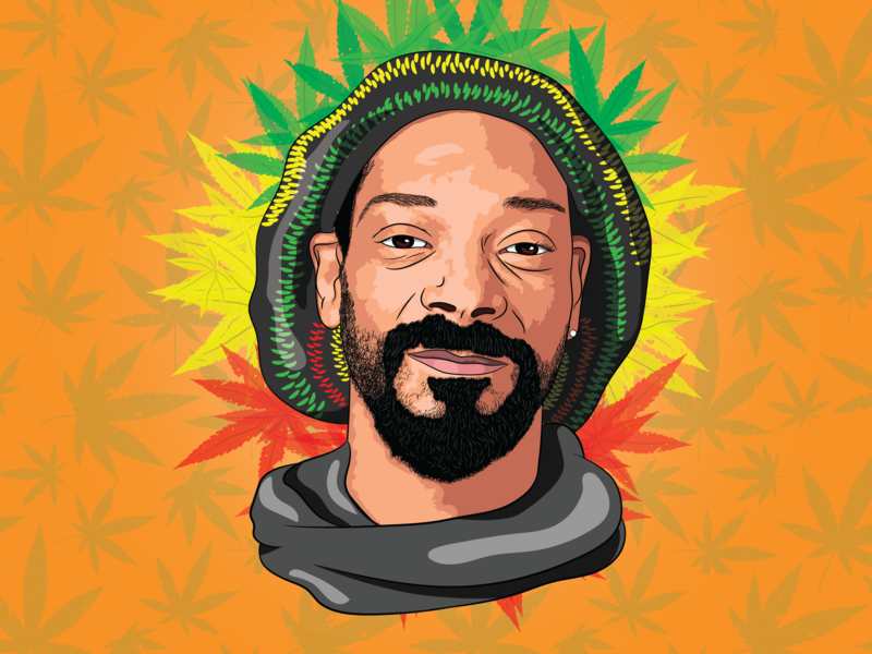 Snoop Dogg snoop dogg portrait art vector illustration vector art pop-art
