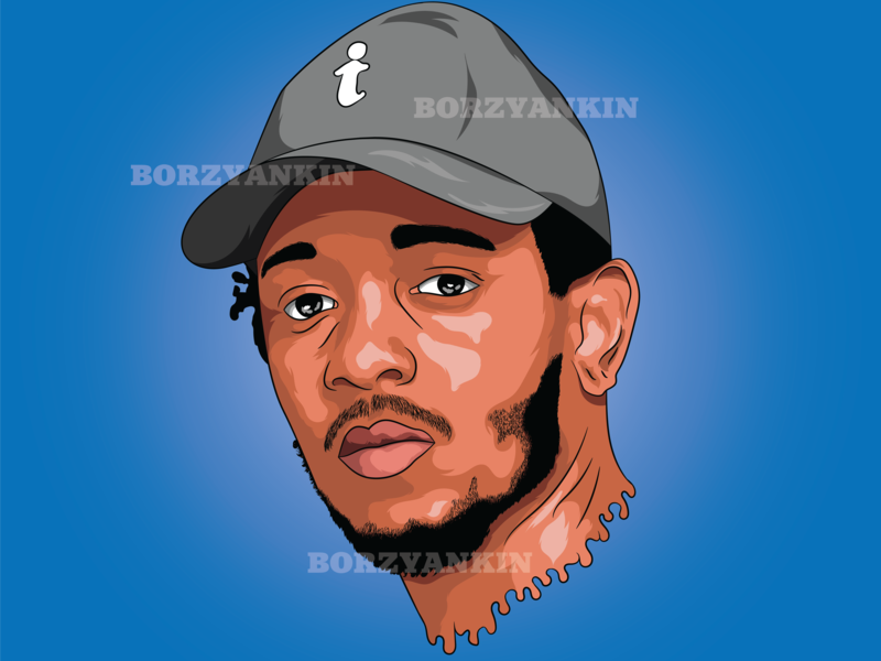 Kendrick Lamar kendrick lamar portrait art vector illustration vector art pop-art