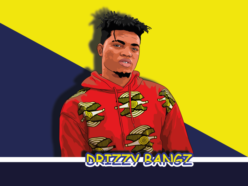 Drizzy Bangz design vector portrait art illustration vector art pop-art