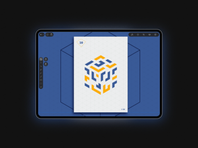 Creating a Poster using the Isometric Grid in Vectornator interface branding design graphic design dribbble vector graphics illustration vector vector art vectornator