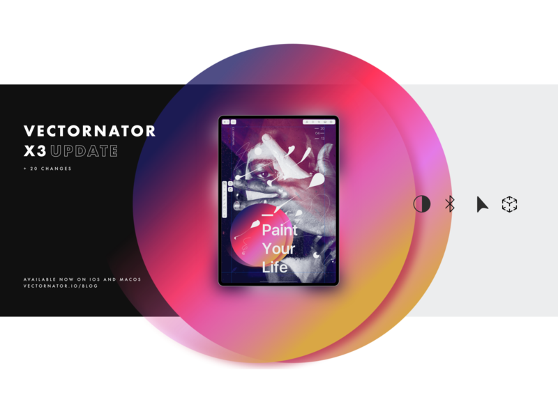 Update Now to Vectornator X3 🙌🏼 ipad augmented reality typography art poster interface branding ux vector graphics illustration vector vectornator