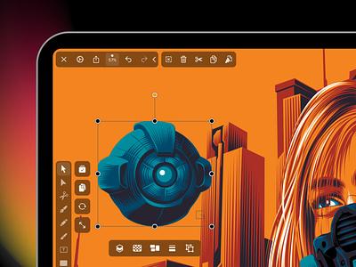 Vectornator 4.0: Quick Actions ipad design vector art vector graphics illustration vector vectornator