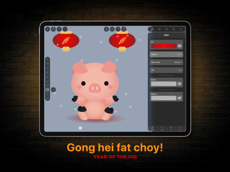 Happy Chinese New Year - Featuring Alessia Contessi piggy chinese character character design chinese pig year of the pig lunar new year chinese new year