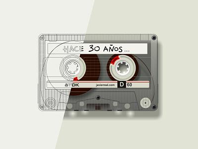 Vector-cassette design vector illustration