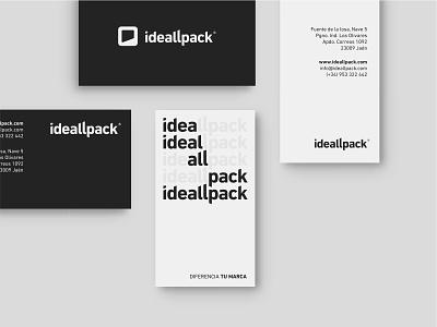Ideallpack BC typography logo branding design