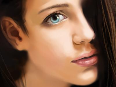 EYE sketch painting