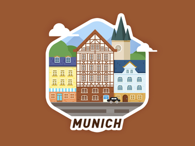 Munich City illustrator