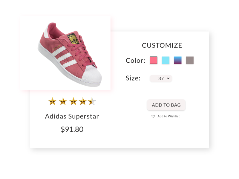 DailyUI #033 Customize Product