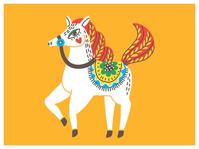 🌼HORSEY🌼 minimal art cute cute animal horse character design cartoon illustration vector