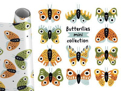 Butterflies mini-collection