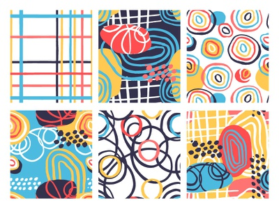 6 FUNKY PATTERNS vector surface pattern design seamless pattern printdesign print pattern abstract