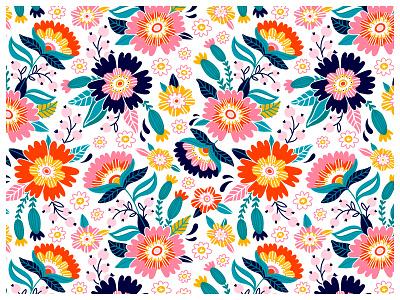 💮 vector textiledesigns surfacepattern surfacedesign printdesign patterndesign pattern illustration flowers drawing digitalprint