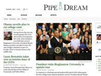 Pipe Dream - Obama visits Binghamton