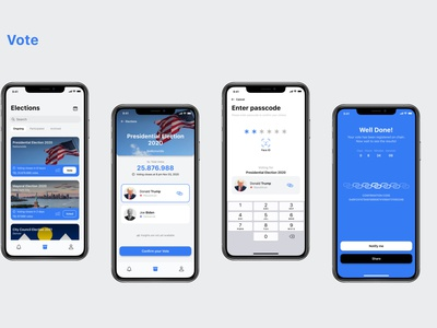 ChainVote: A Voting App For Presidential Election 2020 chainvote blockchain evoting trump election voting
