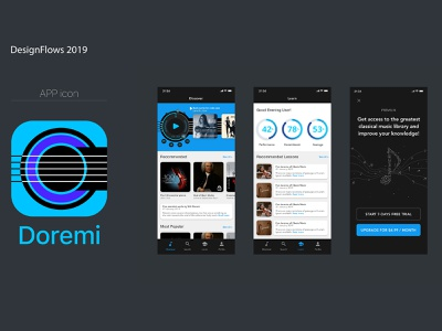 Doremi, Classical Music App, Design flows designflows app design music app music appmusic doremi classicmusic classical music